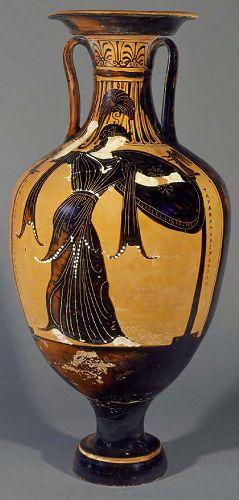 反映古希腊生活的泛雅典娜节黑像陶瓶