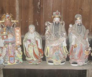 广西三江侗族自治县良口乡和里村的三王宫内侧室中的.