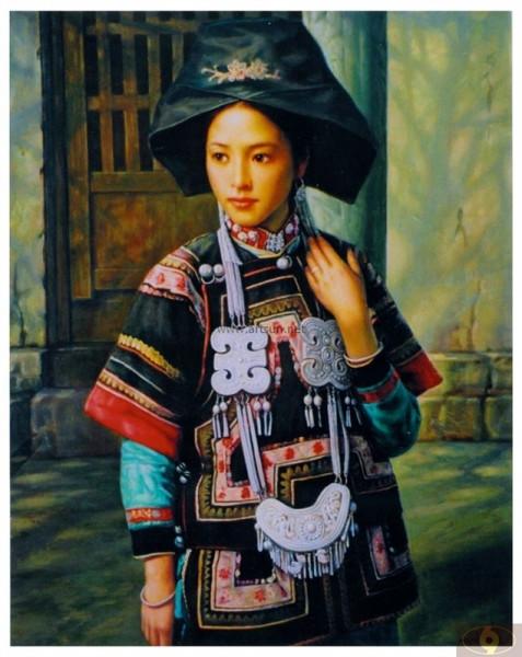 [转载]彝族油画;; 作品描述:; 标题:[原创] 中国油画家笔下的美女