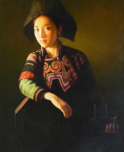 原文地址:彝族油画; 漂亮的彝族油画; 手绘民俗人物 禹州油画 酒店