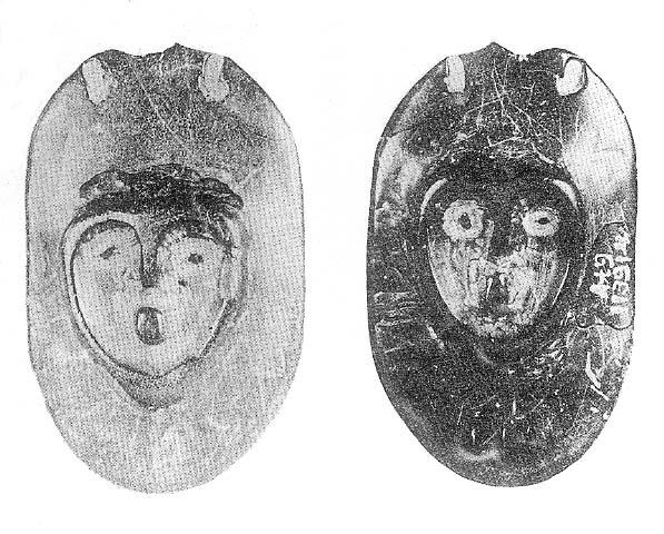 该遗址下层出土的6件陶塑人头像中的vt21④:10