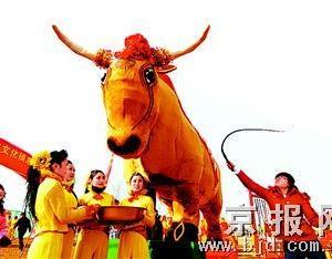 北京打春牛
