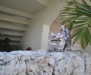 18 伊计岛居民用贝壳等制作的狮子-3