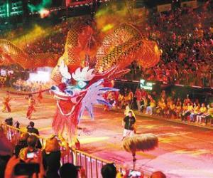 新加坡华人举办舞龙嘉年华喜庆元宵节