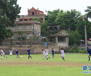 11. 6月27日,鼓浪屿中学生在洋人球埔旧址、现为鼓.