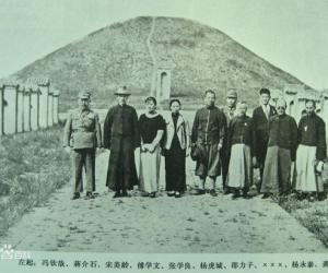 24蒋介石在周陵留念