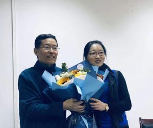 2020年1月7日 博士后报告会上的虎彬兄与谷宇博士后