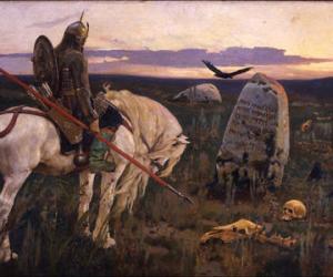 """瓦斯涅佐夫Viktor Vasnetsov(1848-1926)""""骑士在十字路口"""""""